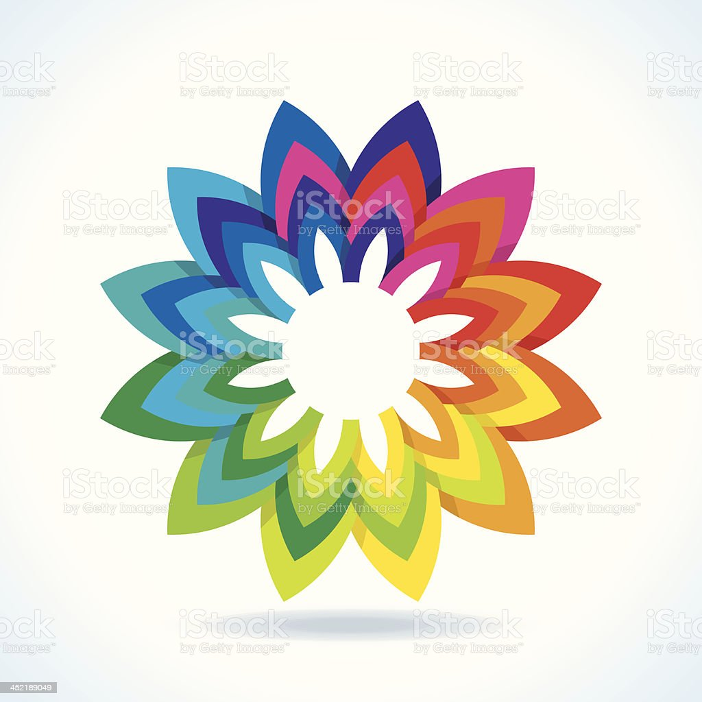 color flower wheel background royalty-free stock vector art