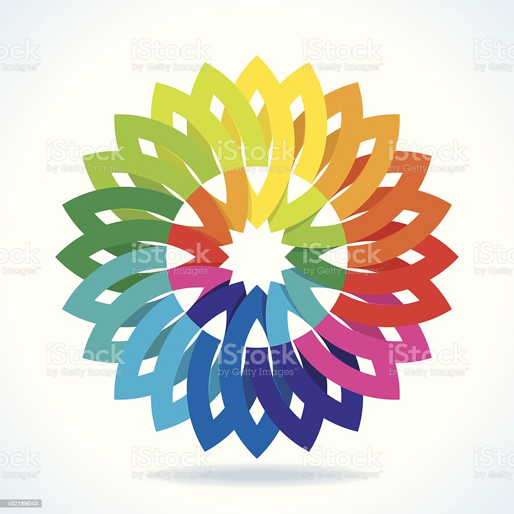 Color flower wheel royalty-free stock vector art