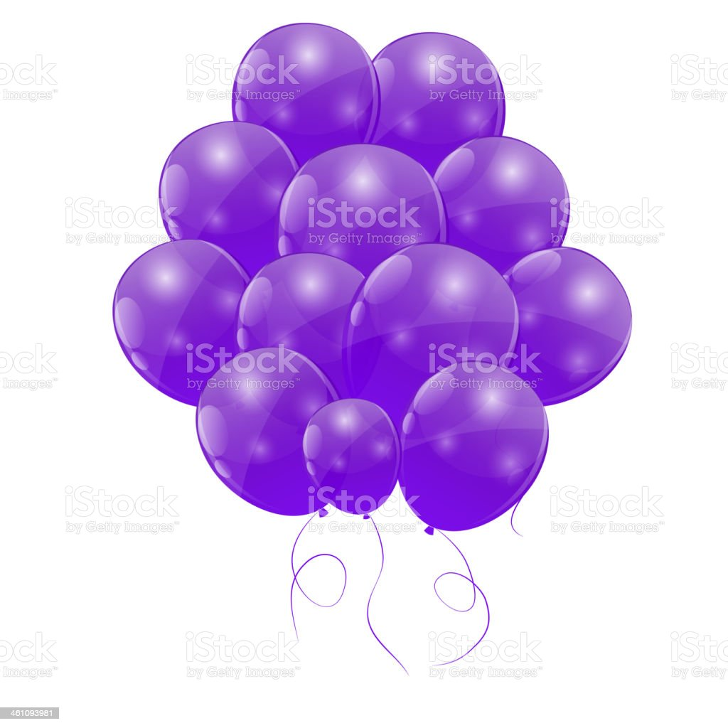 Color glossy balloons background vector illustration royalty-free stock vector art