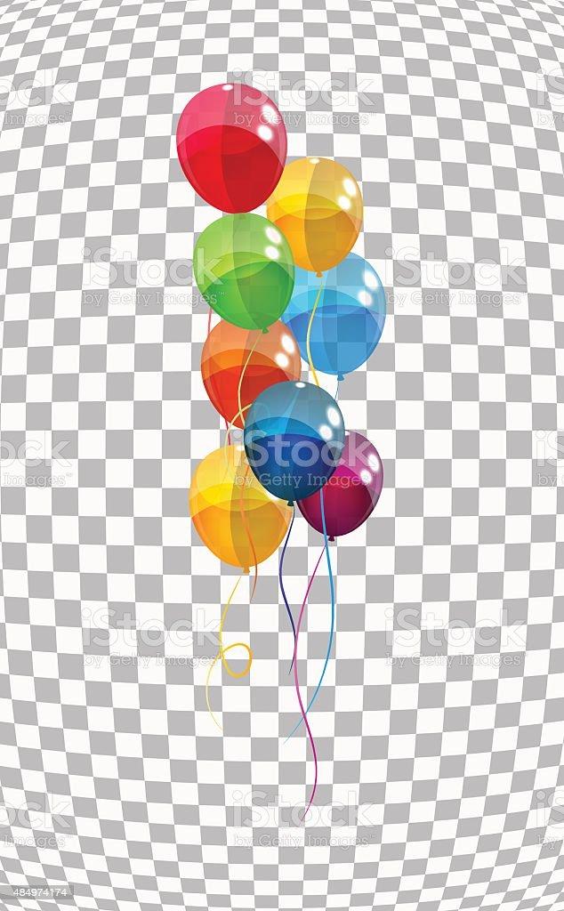 Color Glossy Balloons Background Vector Illustration vector art illustration