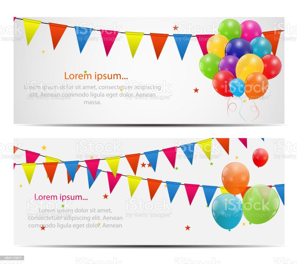 Color glossy balloons card background vector illustration vector art illustration