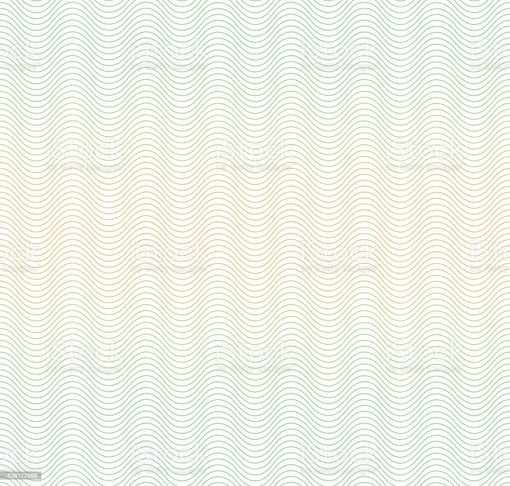Color gradient background with waves. Guilloche. The protective layer for royalty-free stock vector art