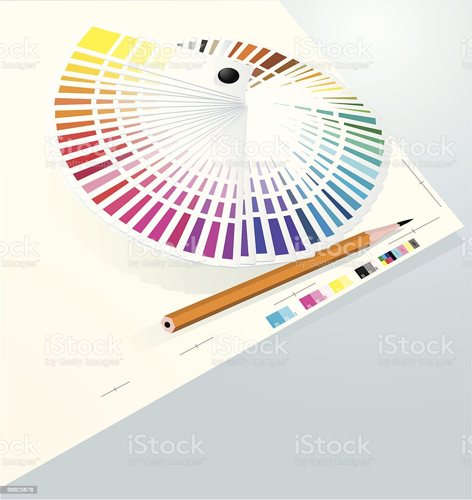 Color guide to match colors for print. royalty-free stock vector art