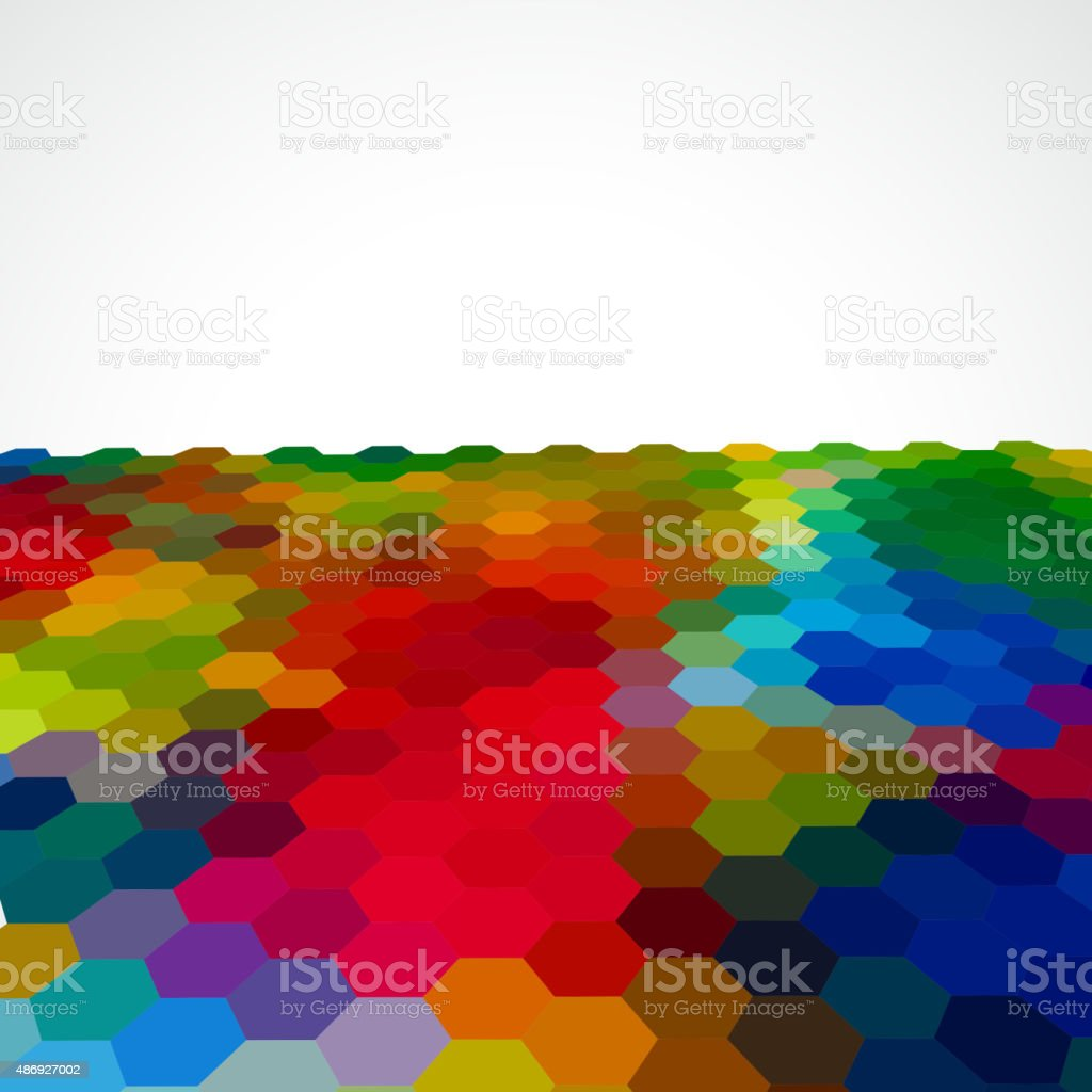 color hexagon pattern background vector art illustration