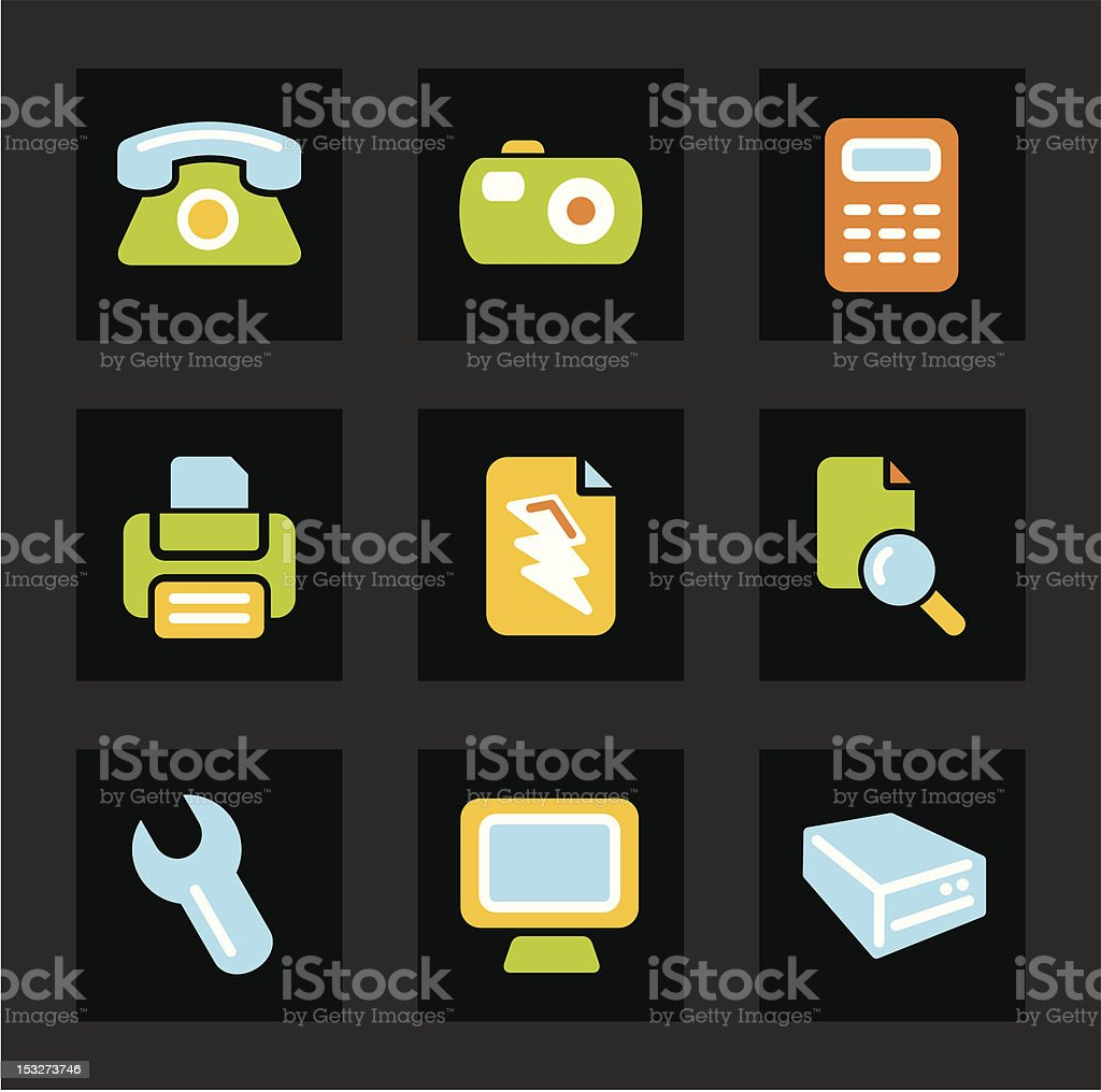Color Icon Series - Basic Icons royalty-free stock vector art