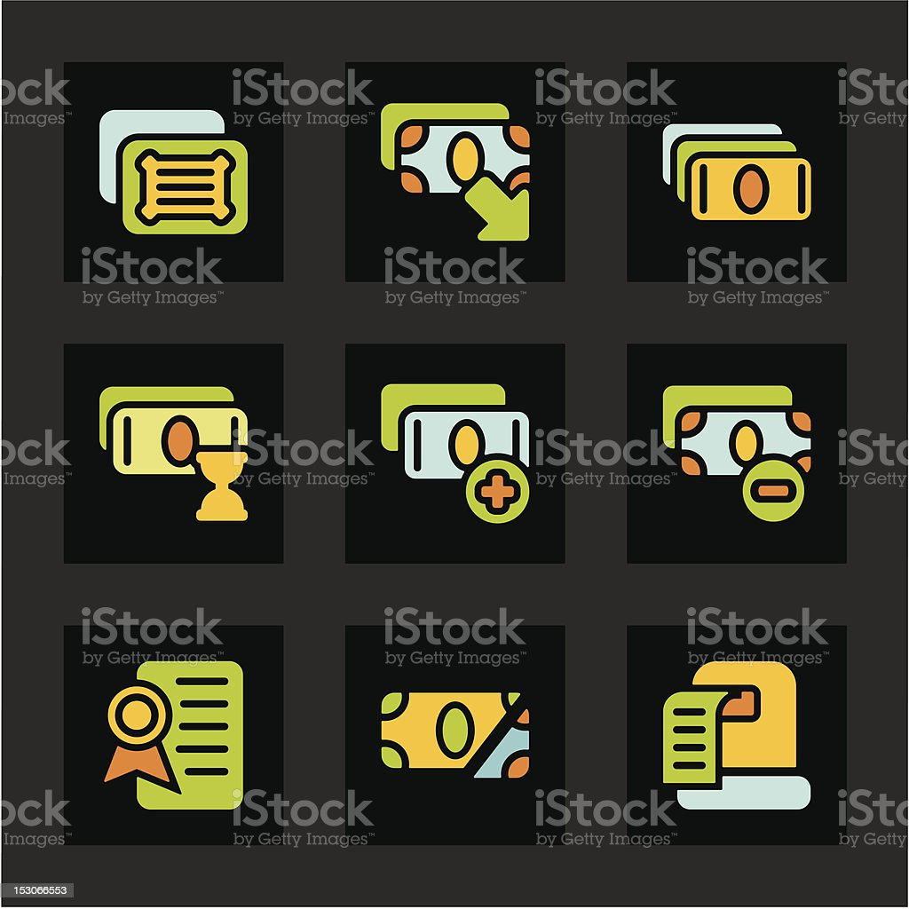 Color Icon Series - Finances Icons royalty-free stock vector art