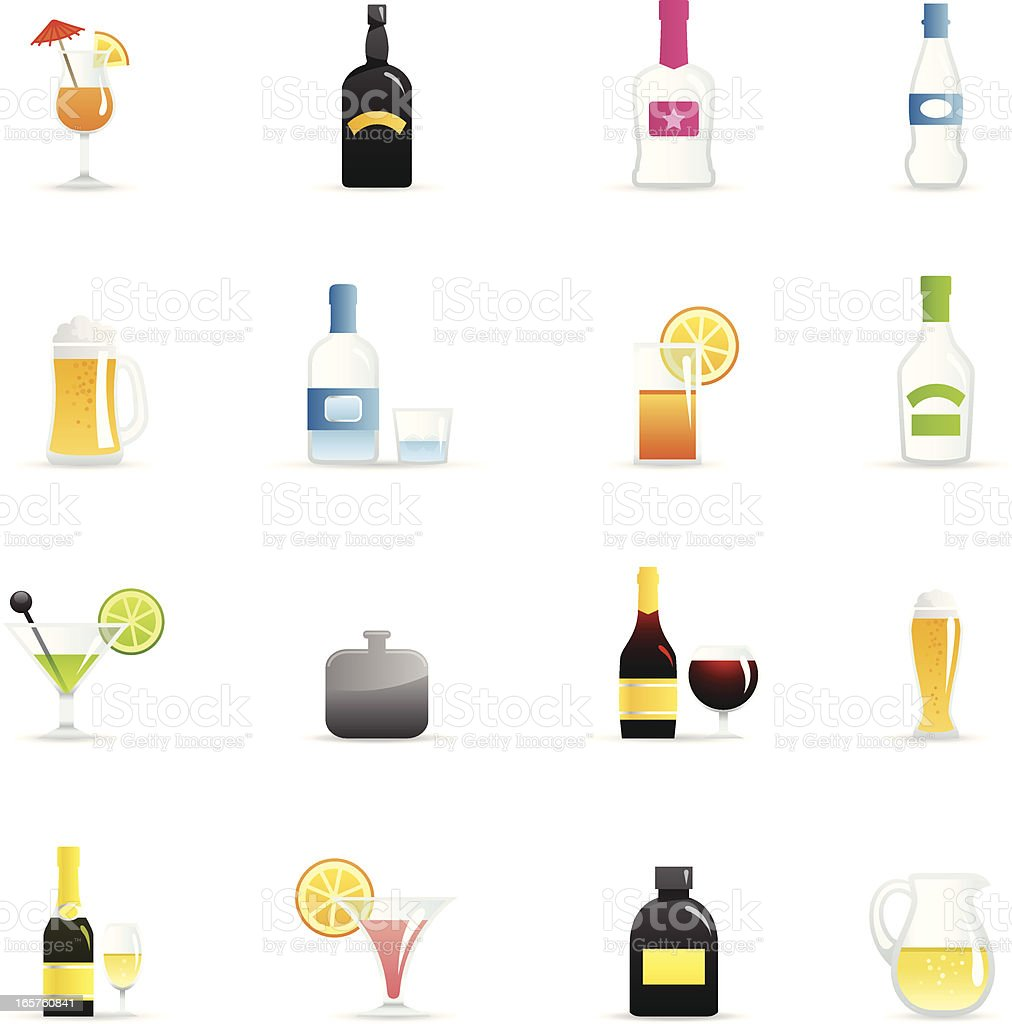 Color Icons - Alcohol vector art illustration