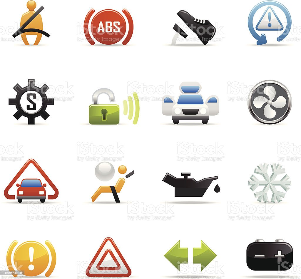 Color Icons - Car Control Symbols royalty-free stock vector art