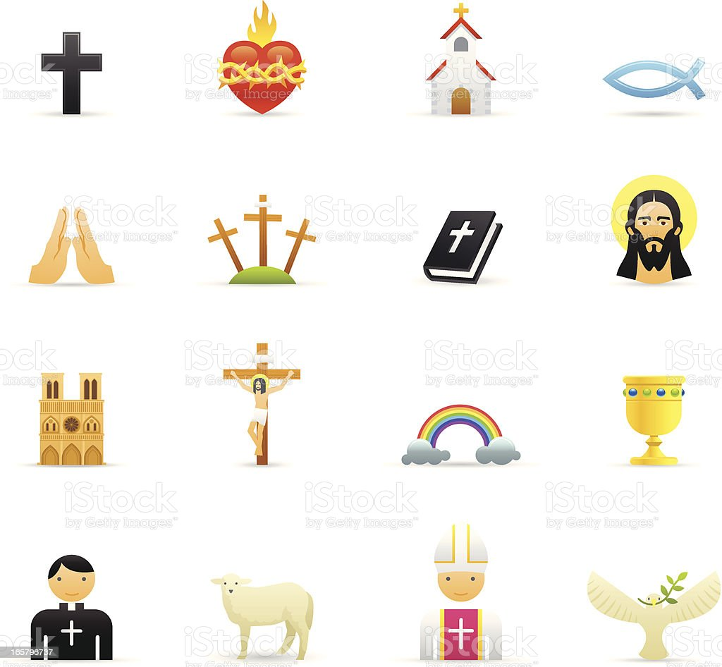 Color Icons - Christian vector art illustration