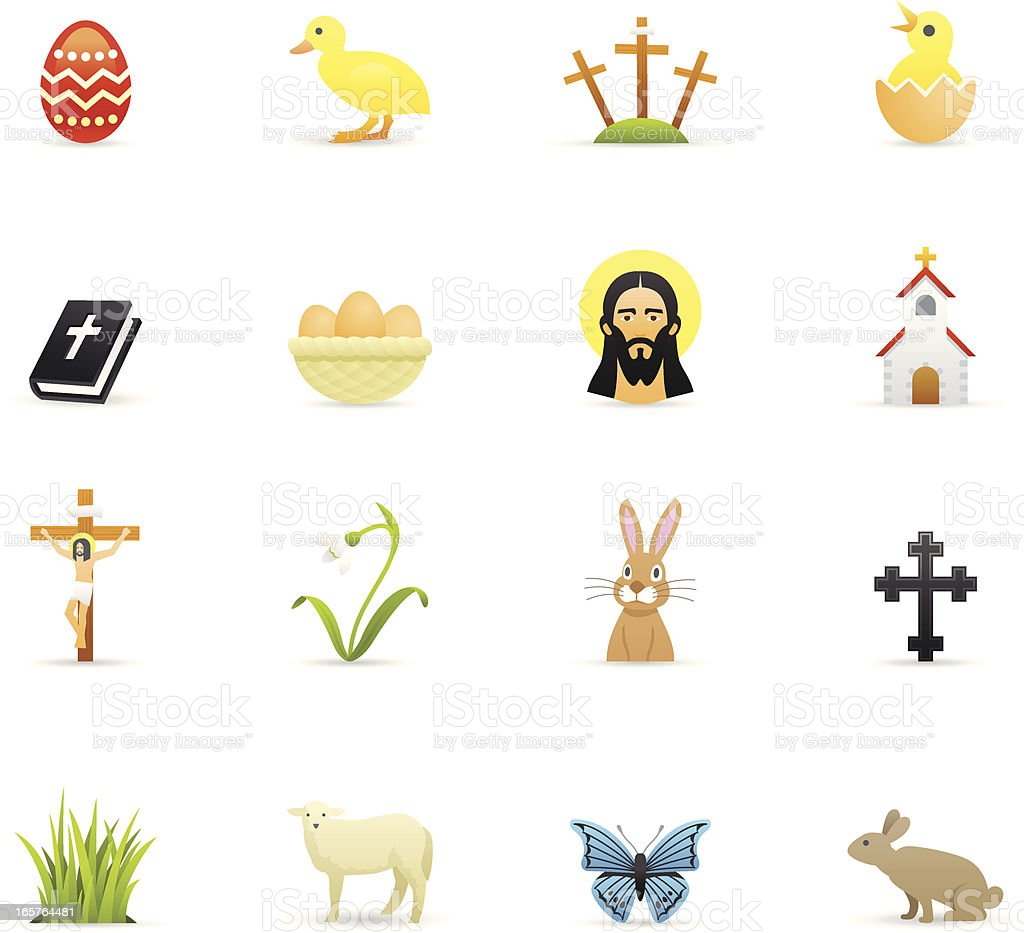 Color Icons - Easter vector art illustration
