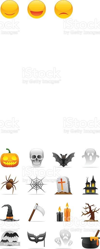 Color Icons - Halloween vector art illustration