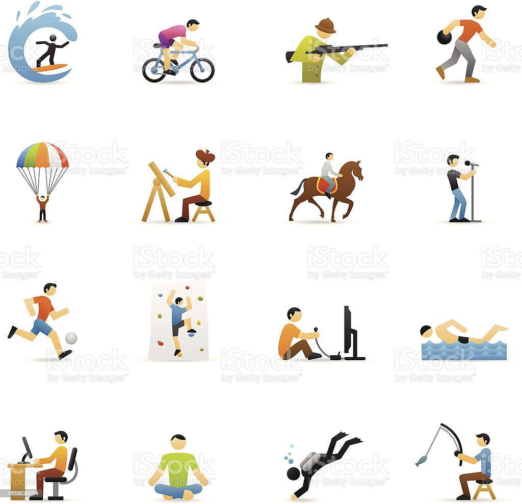 Color Icons - Hobbies vector art illustration