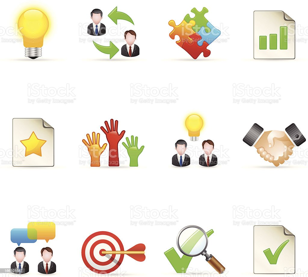 Color  Icons - Management royalty-free stock vector art