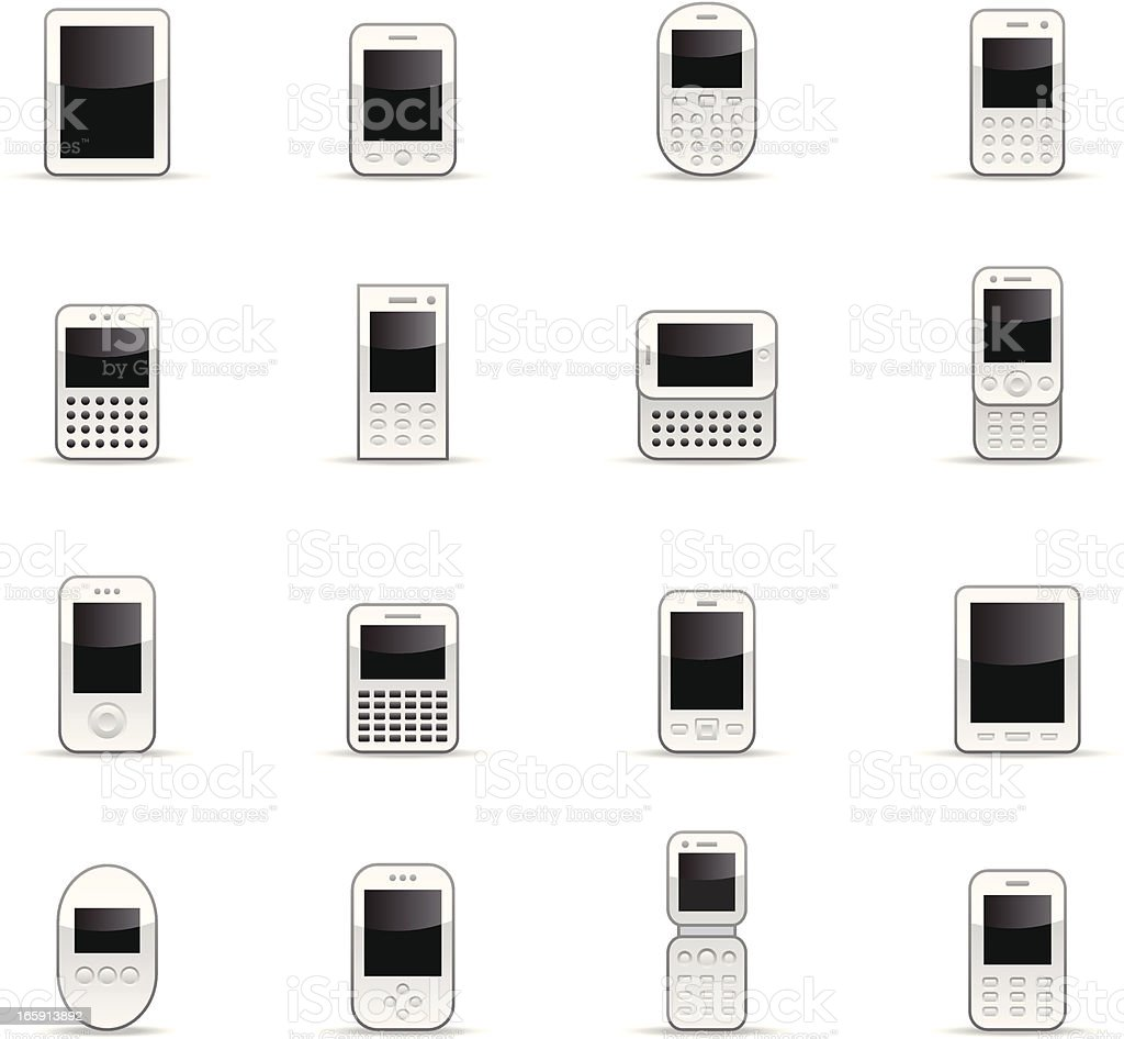 Color Icons - Mobile Devices royalty-free stock vector art