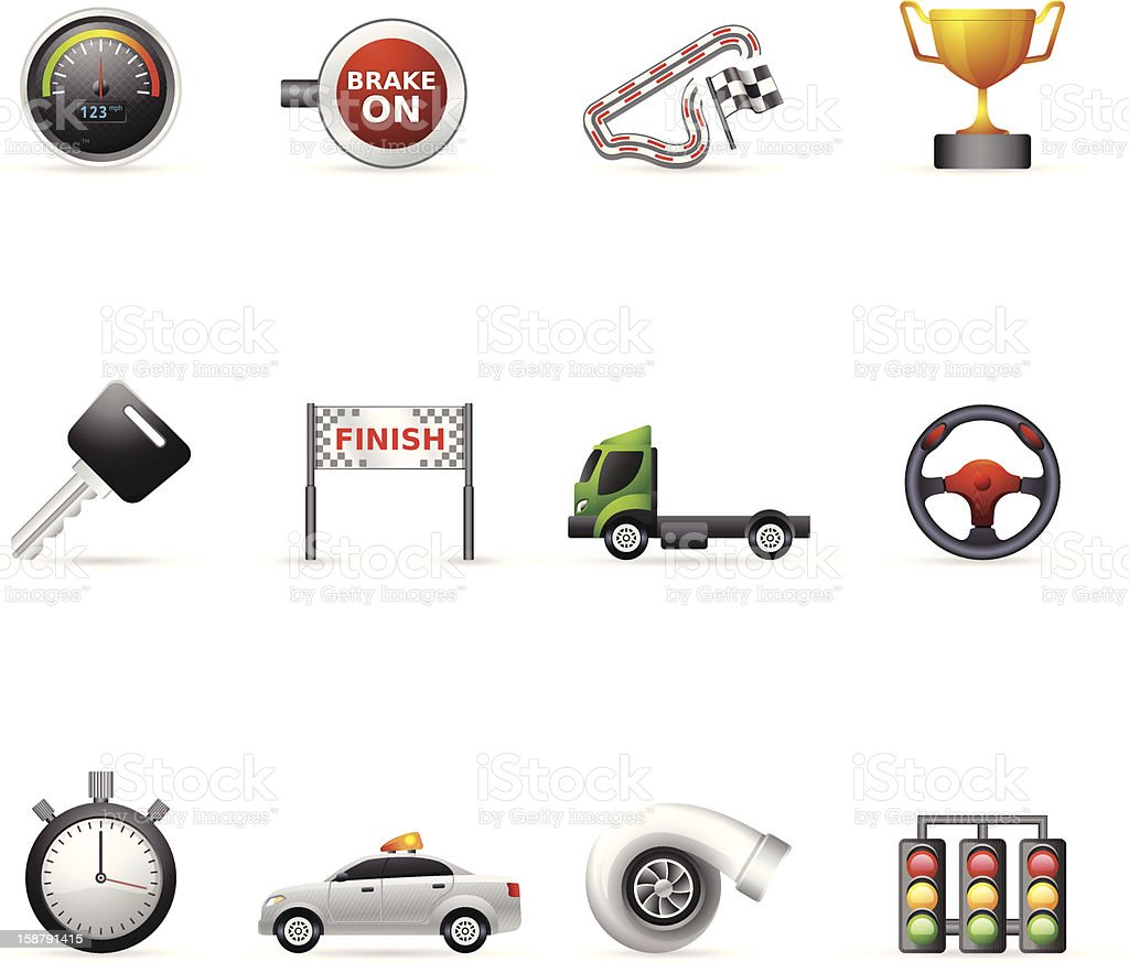 Color Icons - More Racing royalty-free stock vector art