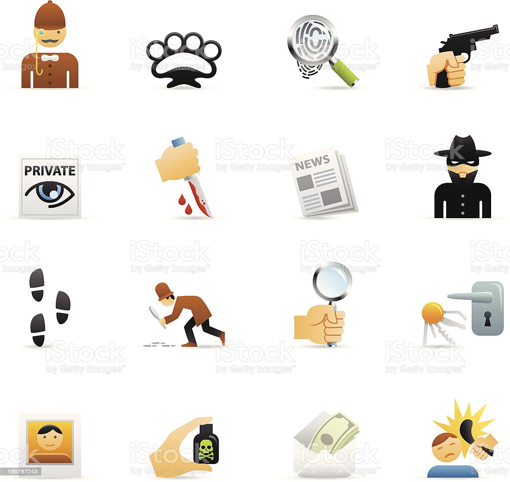 Color Icons - Private Eye royalty-free stock vector art