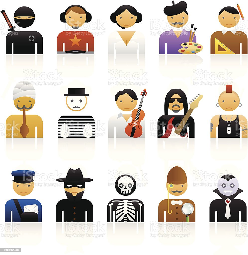 Color Icons - Professions vector art illustration