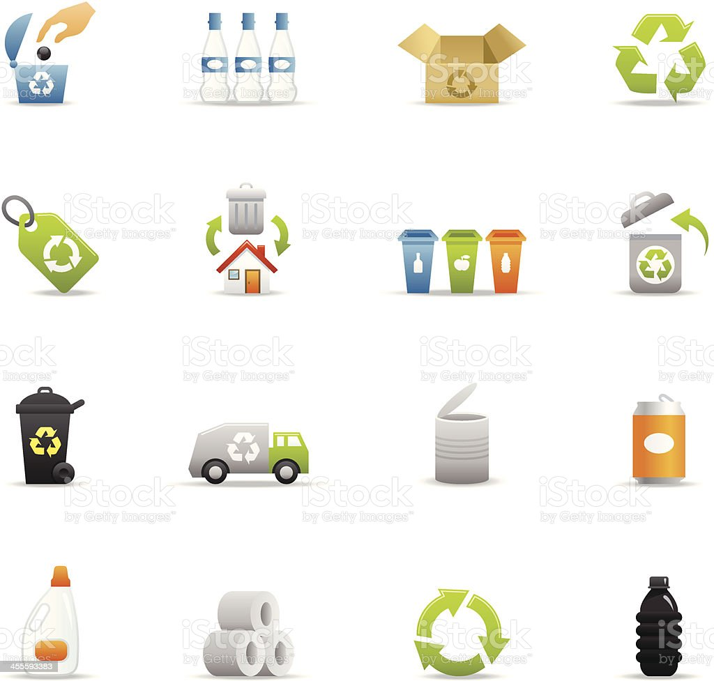 Color Icons - Recycle royalty-free stock vector art