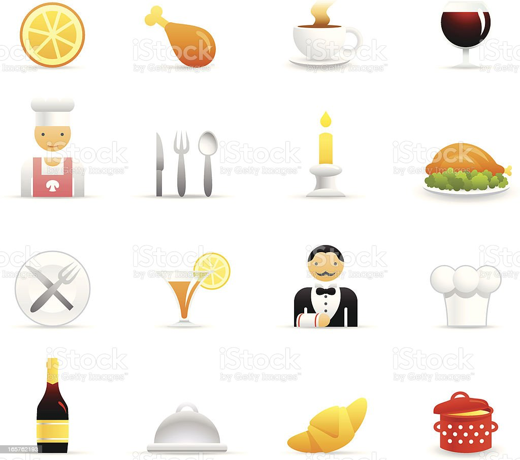 Color Icons - Restaurant royalty-free stock vector art
