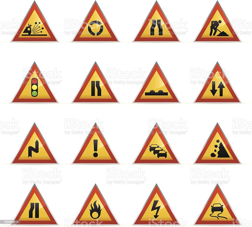 Color Icons - Road Signs royalty-free stock vector art