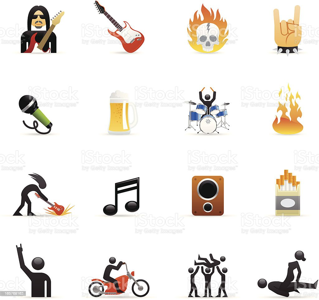 Color Icons - Rock Star vector art illustration