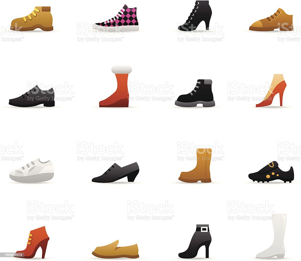 Color Icons - Shoes vector art illustration