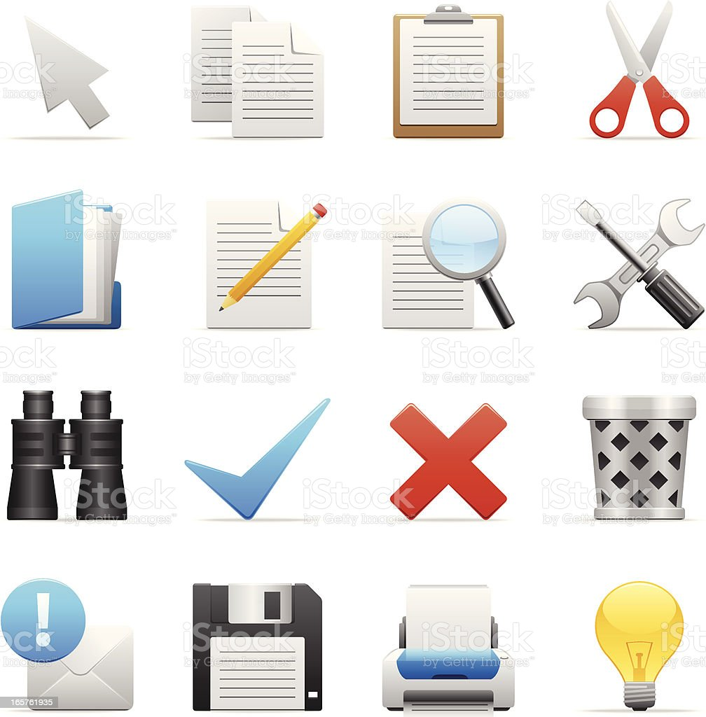 Color Icons - Toolbar royalty-free stock vector art