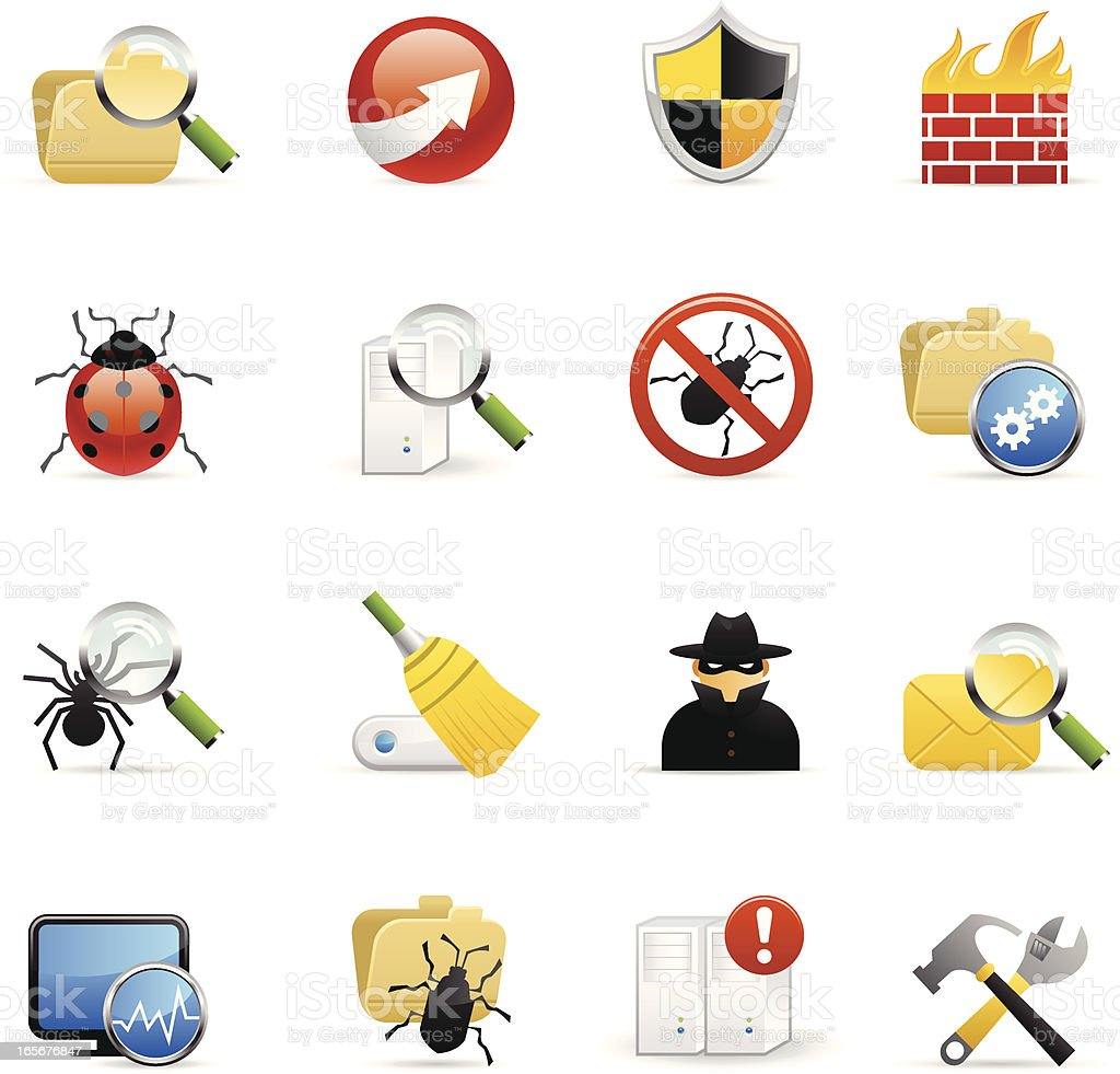 Color Icons - Web Security vector art illustration