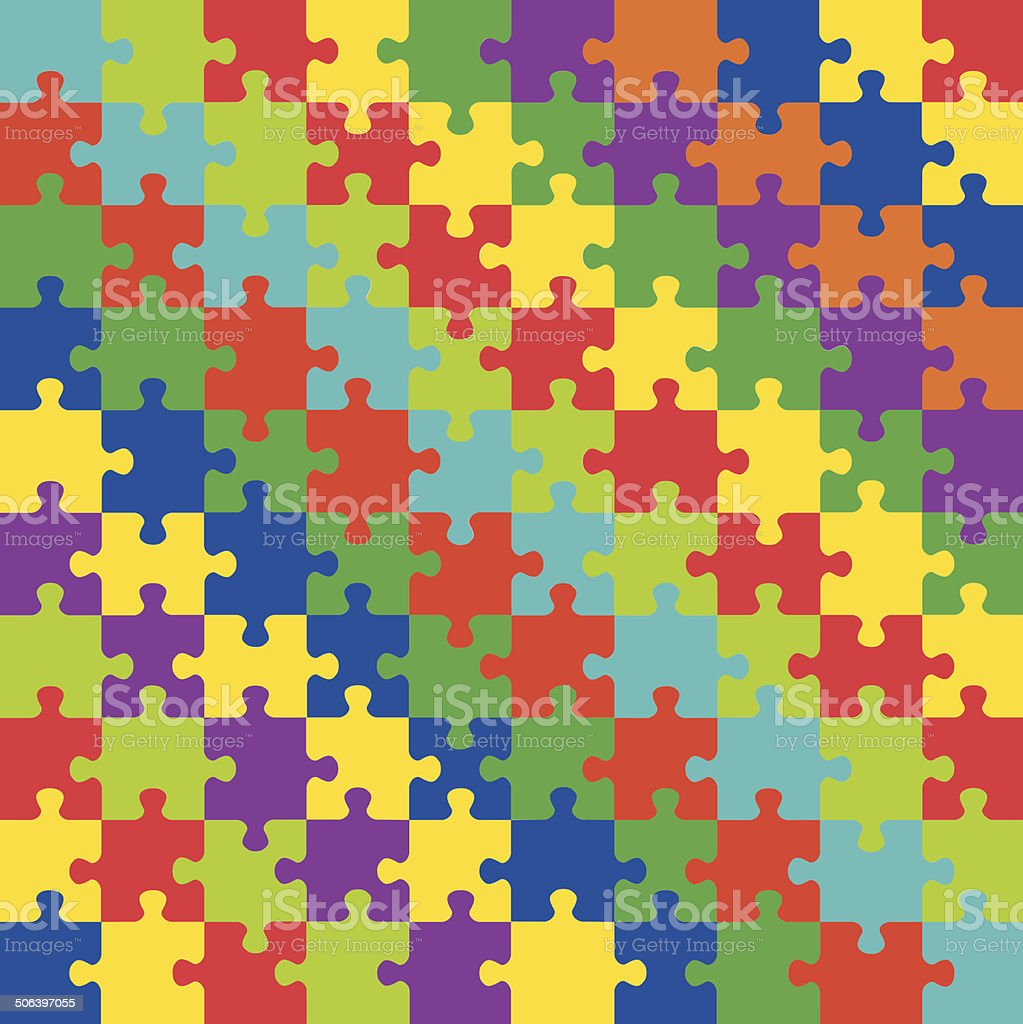 Color jigsaw puzzle royalty-free stock vector art