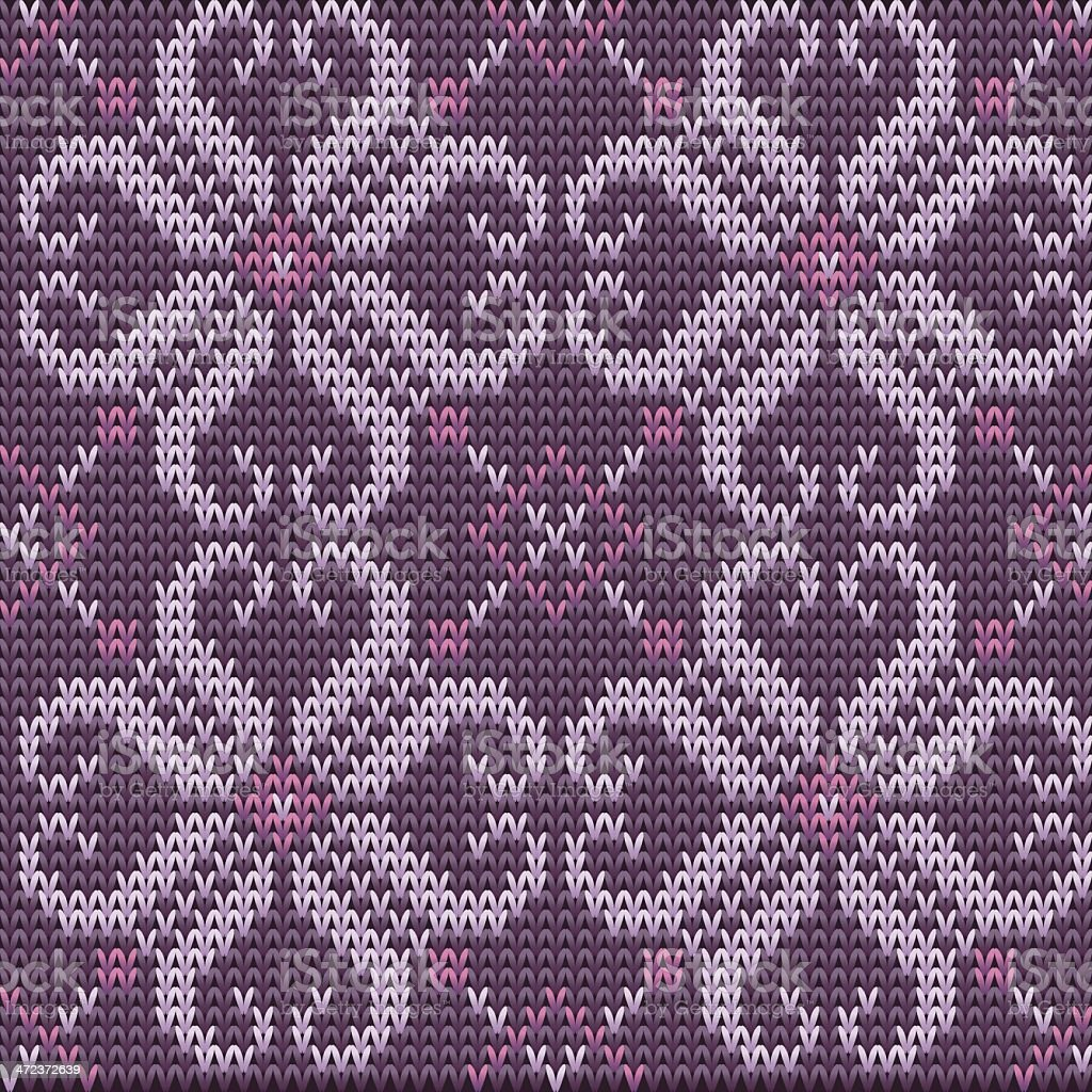 Color Knitted Wool Pattern Background vector art illustration