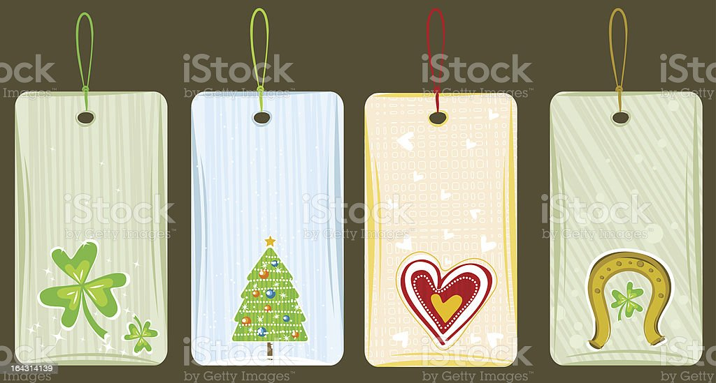 color labels for holidays royalty-free stock vector art