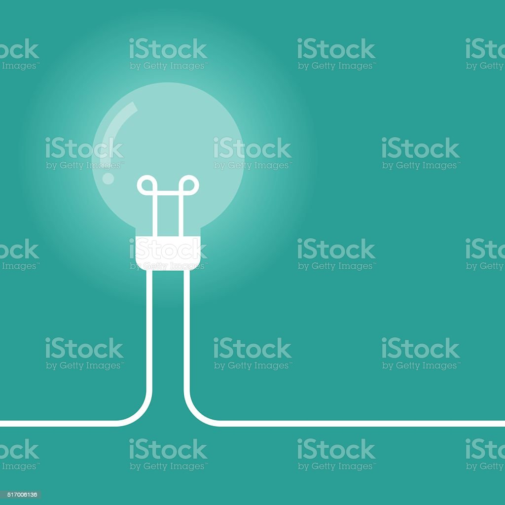 Color Lamp Bulb Idea vector art illustration