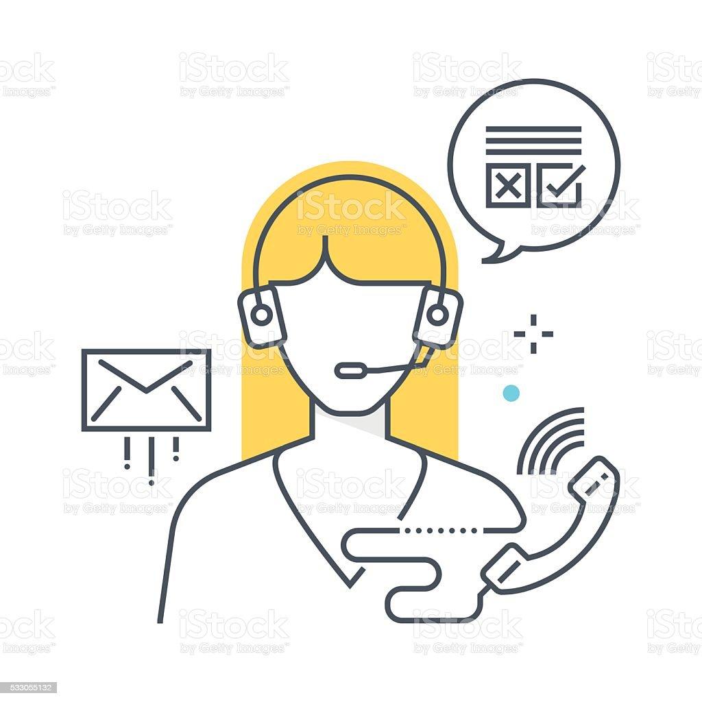 Color line, customer service illustration vector art illustration
