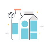 Color line, grocery illustration concept illustration, icon