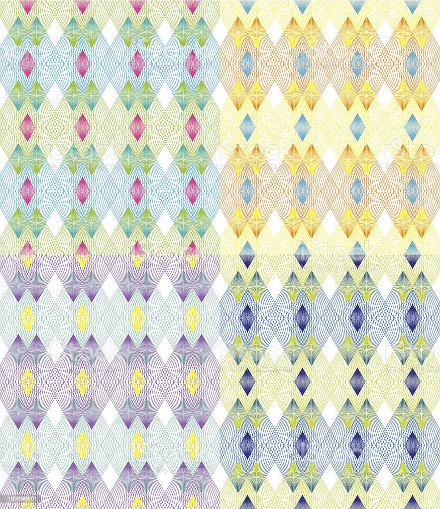 Color Line Pattern vector art illustration