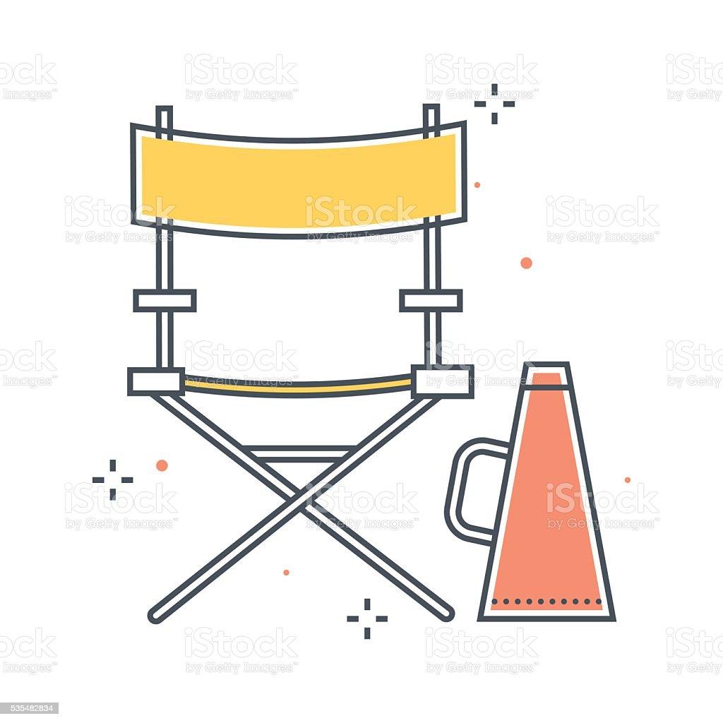 Color line, production manager illustration vector art illustration