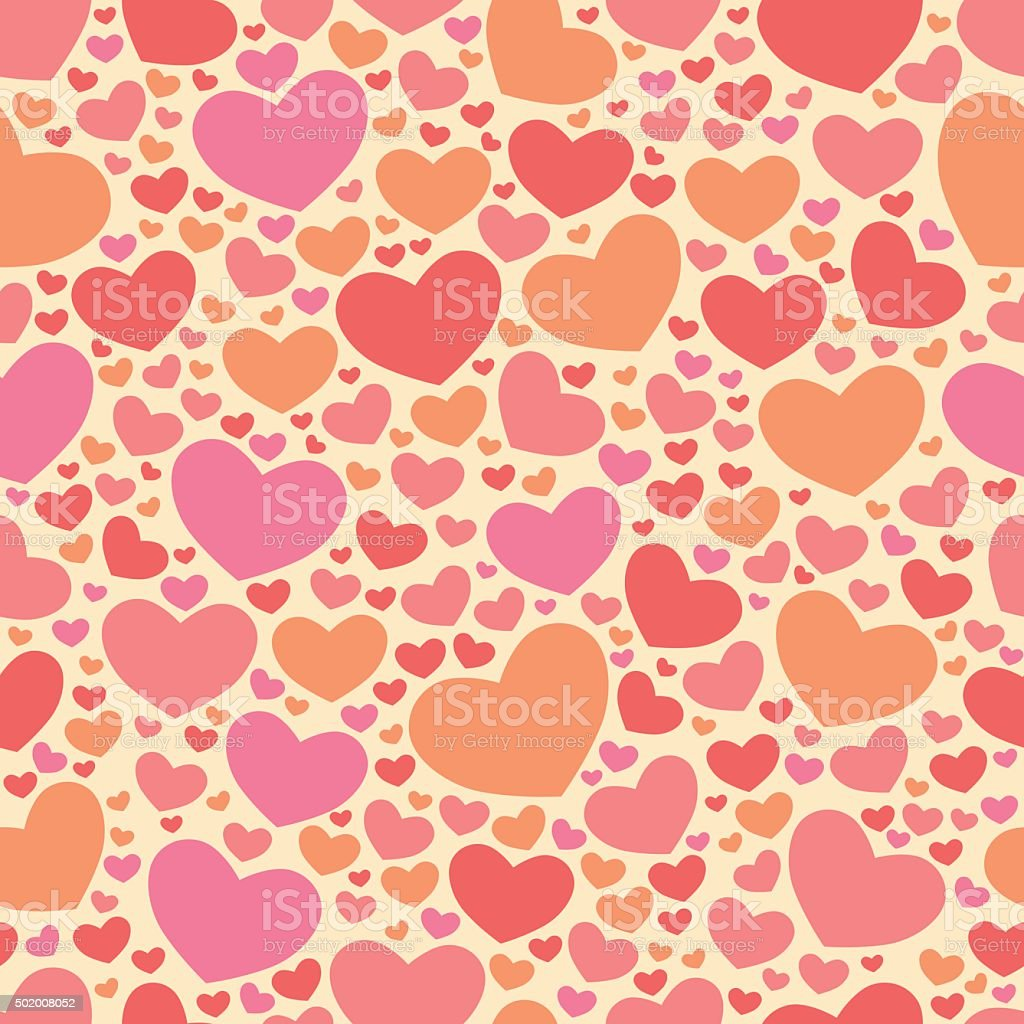 Color ll Lovers Day Valentine pattern. Seamless vector romantic background. vector art illustration