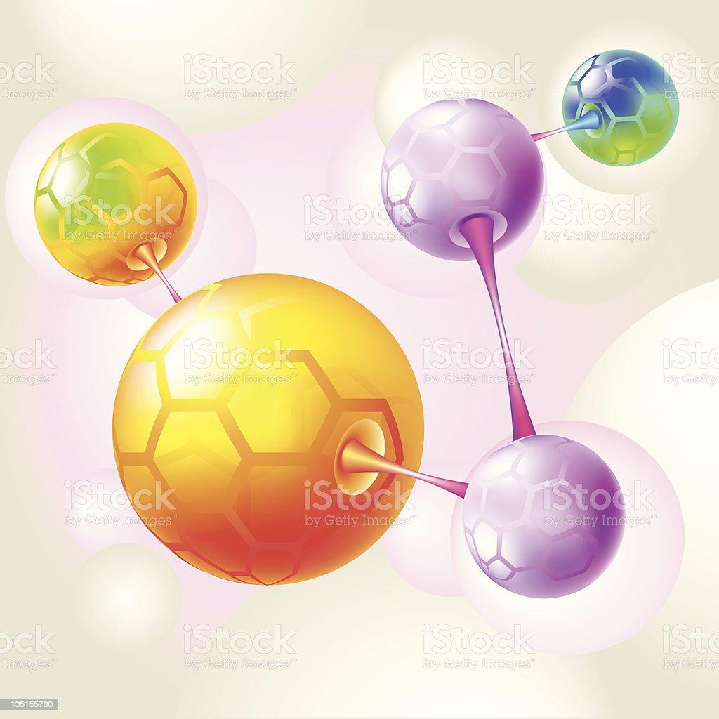 color molecule and atoms royalty-free stock vector art