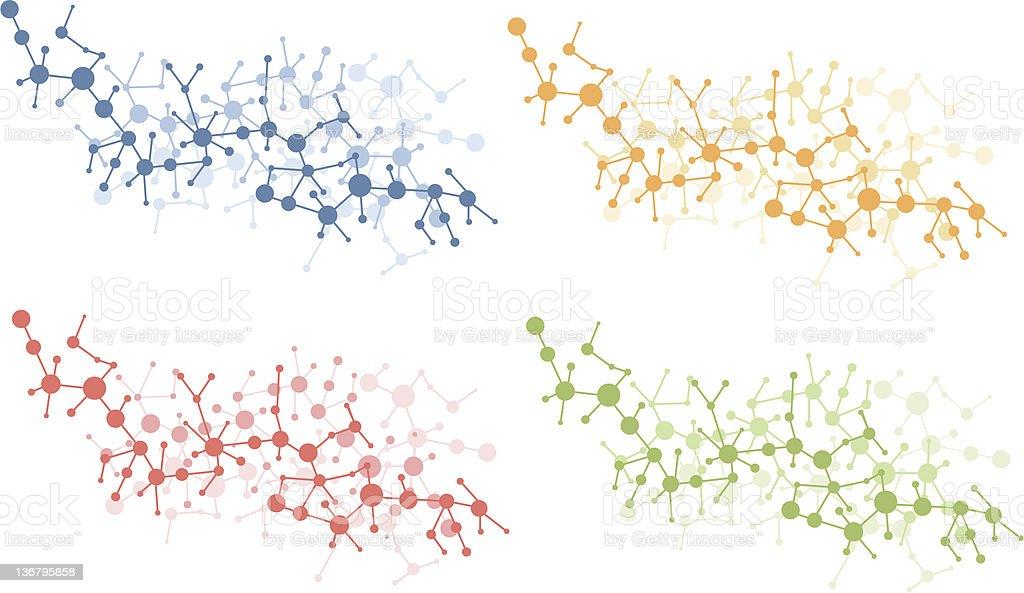 color molecule connection vector royalty-free stock vector art