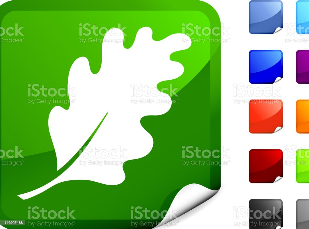 color oak leaf computer icon. royalty-free stock vector art