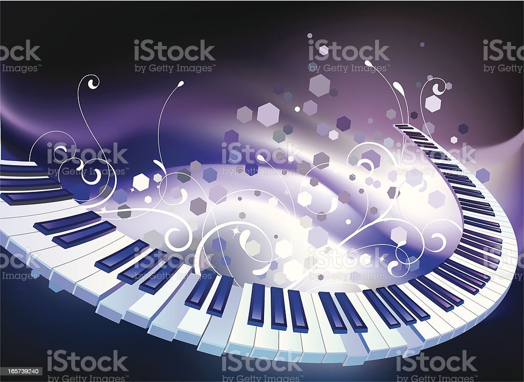 color of music royalty-free stock vector art