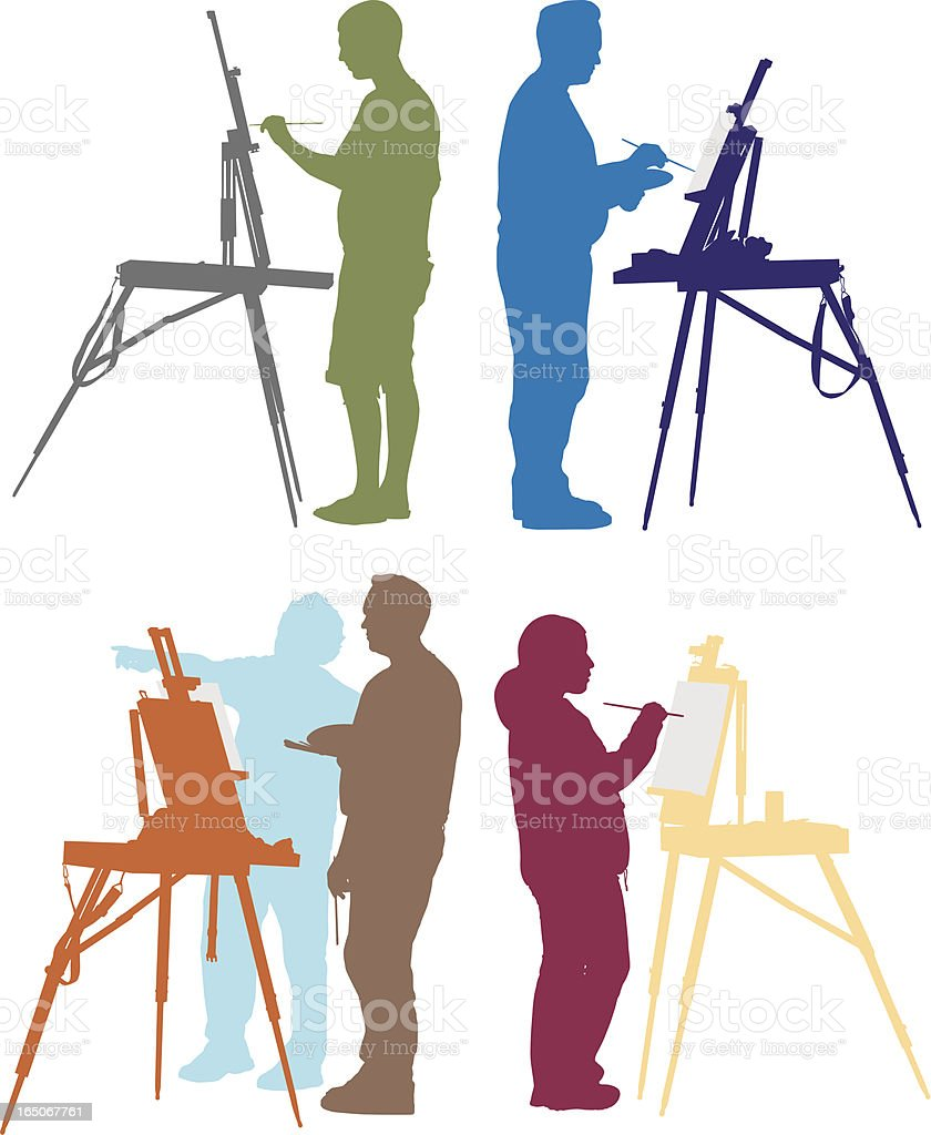 Color Painters royalty-free stock vector art