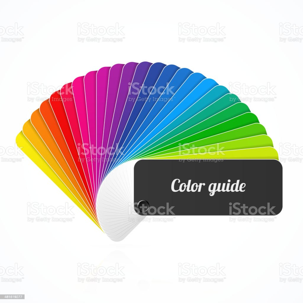 Color palette guide, fan, catalog vector art illustration