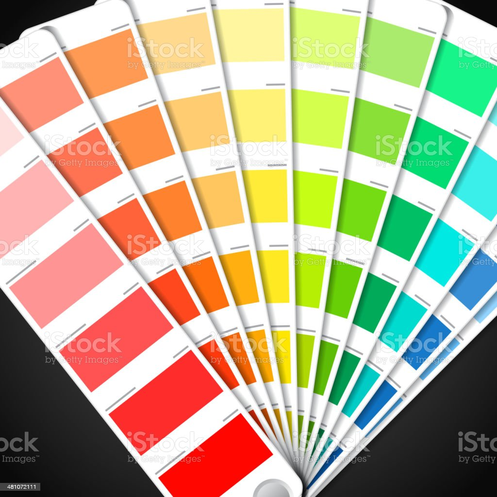 Color palette guide vector art illustration