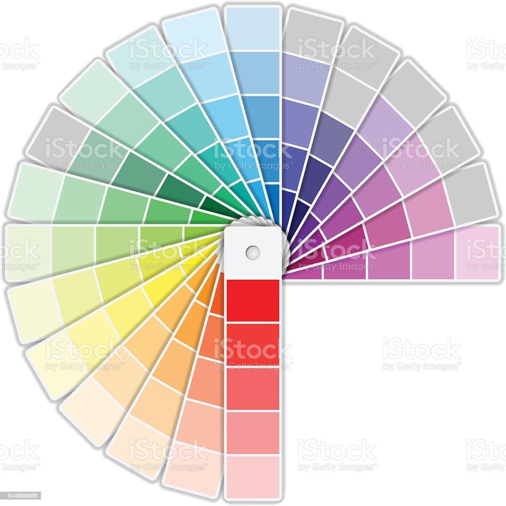Color Palette Icon vector art illustration