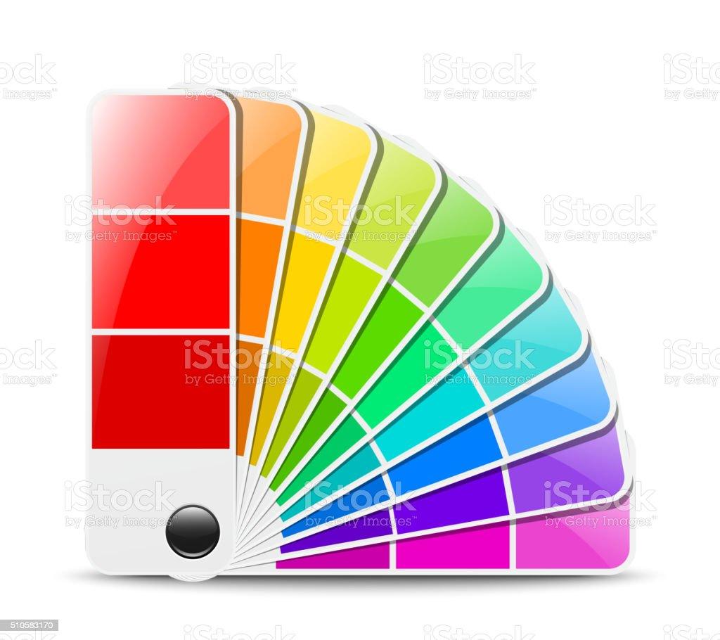 Color palette icon. Vector illustration vector art illustration
