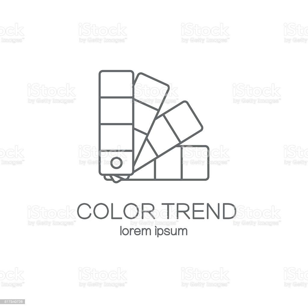 Color palette logotype design templates. vector art illustration