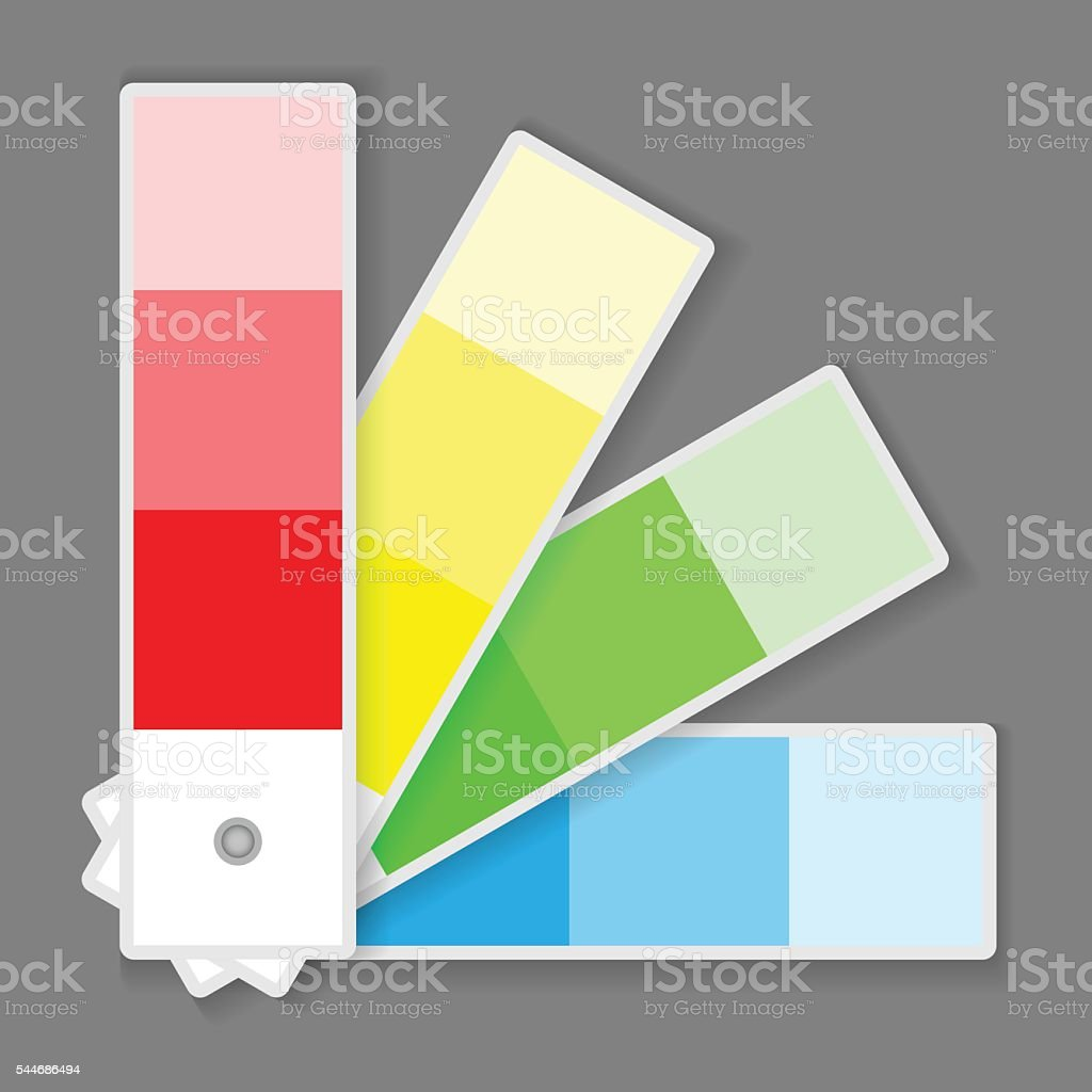 Color Palette vector art illustration