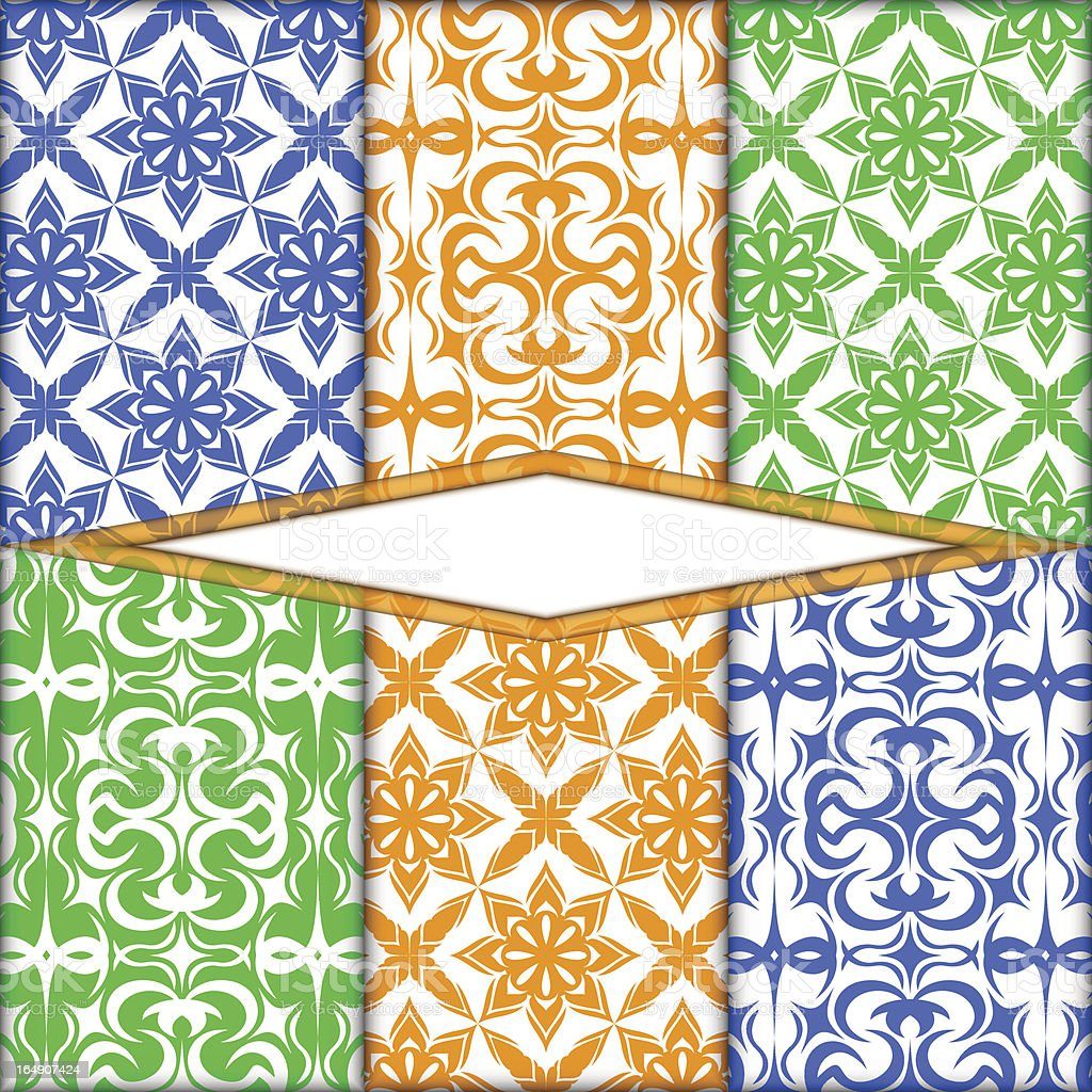 Color pattern royalty-free stock vector art