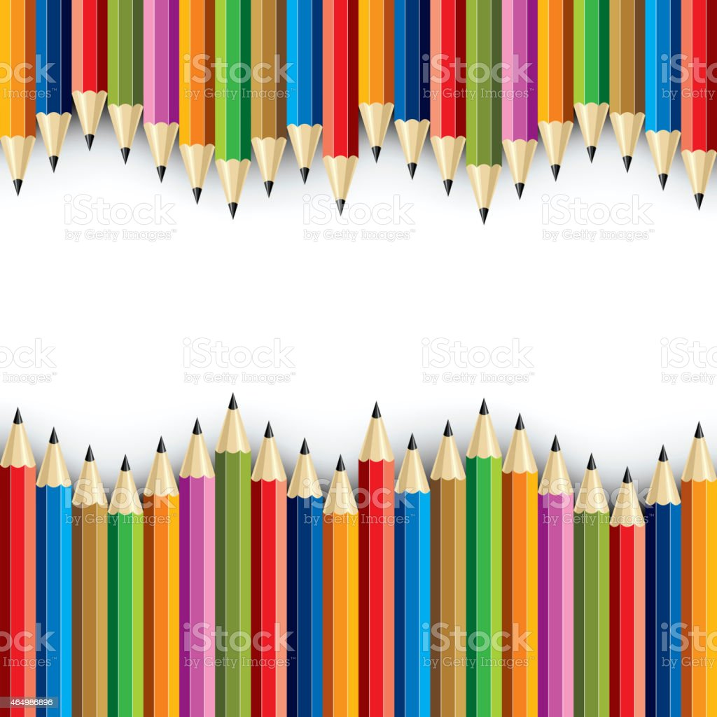 Color pencil set - Illustration vector art illustration